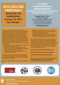 Indigenous Graduate Student Symposium: Call for Proposals