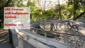 2019 Summer – Indigenous Content Course List