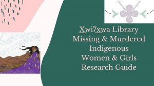 Missing & Murdered Indigenous Women & Girls