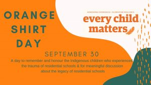 Orange Shirt Day on September 30