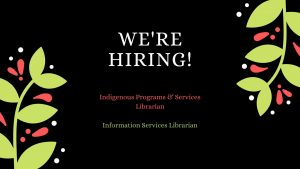 X̱wi7x̱wa Library is Hiring!