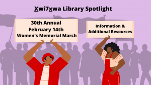30th Annual February 14th Women's Memorial March