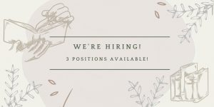 We're Hiring for Student Positions!